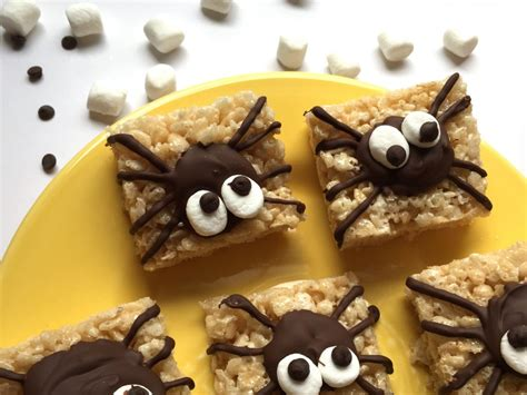 simple treats easy treats spider rice krispie treats