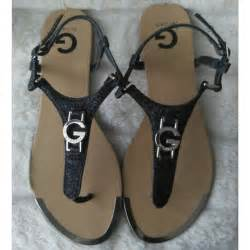 g by guess sandals g by guess glittery black g by guess sandals from