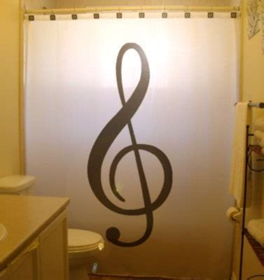 music note bathroom accessories treble clef shower curtain music note bathroom decor kids bath
