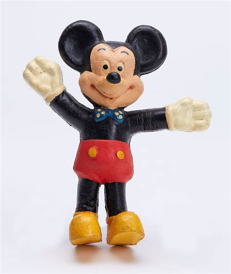 mickey mouse rubber st vintage bendy rubber foam mickey mouse figure 1960 s ebay