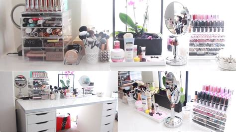 Ikea Closet Organizers vanity tour amp makeup collection youtube