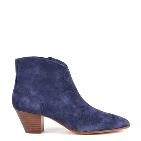 ash hurrican navy suede ankle boot