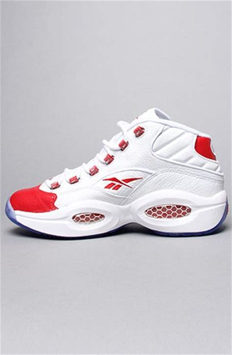 question sneakers reebok the question mid sneaker in white for lyst