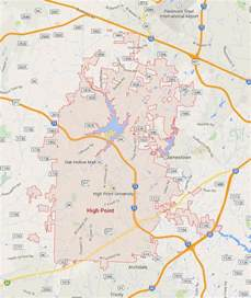 high point carolina map