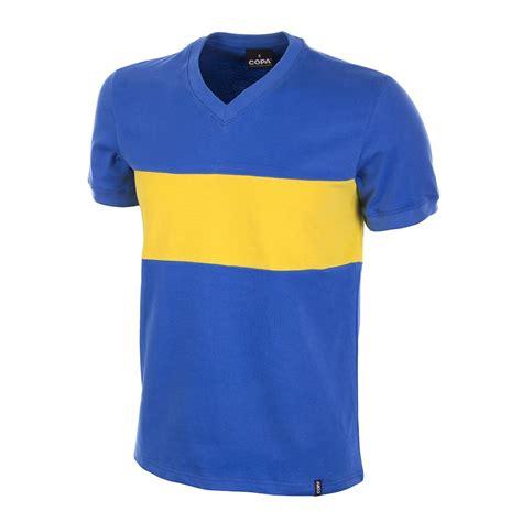 www jersey shop boca juniors 1960 s short sleeve retro football shirt