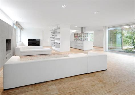 white livingroom contemporary renovation and additon to 60 s bungalow