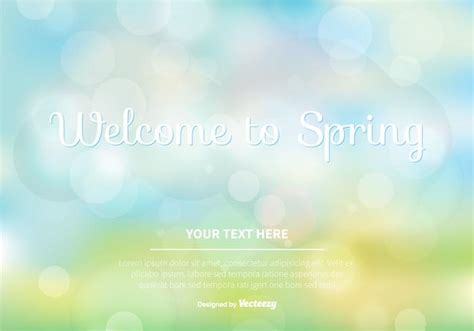 blurred spring vector background   vector