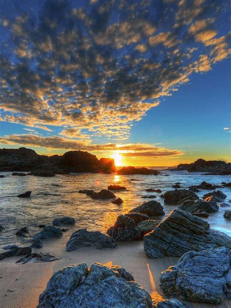 nature ocean breeze  sunset hdr ipad iphone hd
