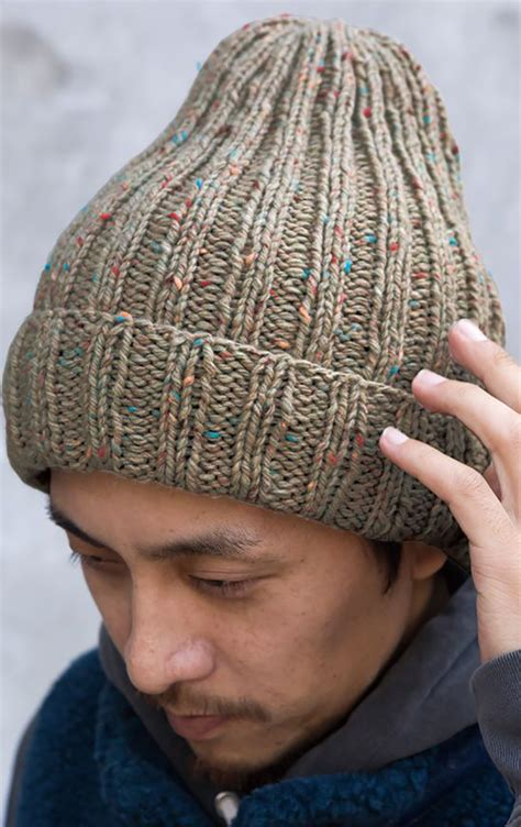 knitting for ribbed hat knitting pattern free