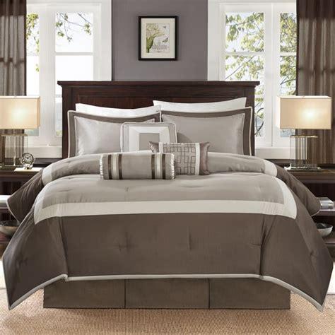 madison park hanover 7 piece comforter set madison park abigail tan solid pieced 7 piece comforter