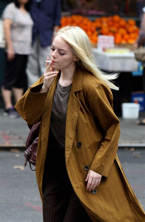 emma stone upcoming movies 2017 emma stone shooting scenes on the set of quot maniac quot in nyc
