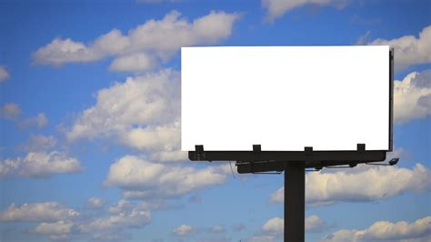 blank billboard with cloud time lapse video clip 23167872