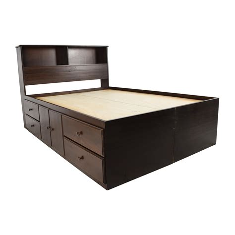 twin storage bed with bookcase headboard captains bed bedding platform captains bed queen cool