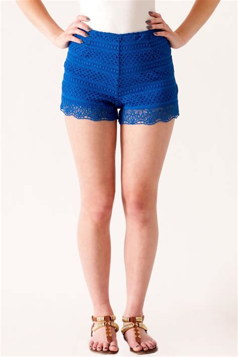 High Waisted hyfve high waisted crochet shorts from philadelphia by may