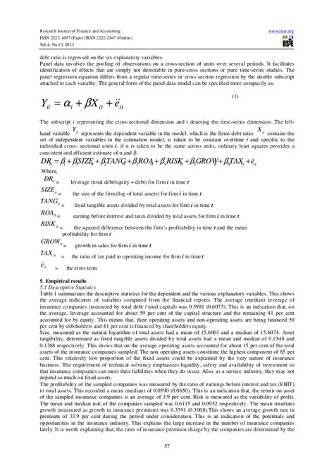 research paper on capital structure research paper determinants capital structure
