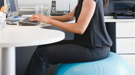 sitting on exercise ball at desk the real truth about using an exercise ball as an office chair