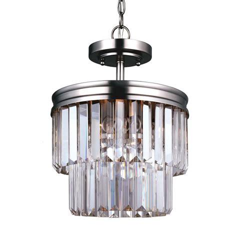 Clear Glass Chandelier Shop Sea Gull Lighting Carondelet 10 625 In 2 Light