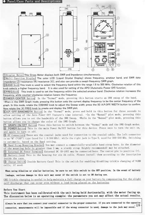 Comet CAA-500 Mark II Antenna Analyzer CAA500