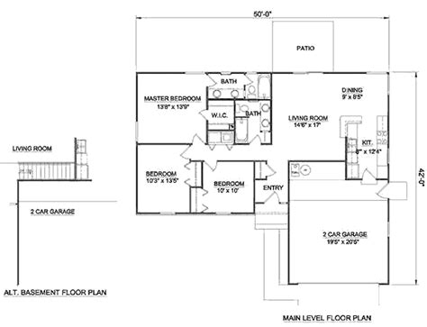 home design for 1250 sq ft ranch style house plan 3 beds 2 00 baths 1250 sq ft plan