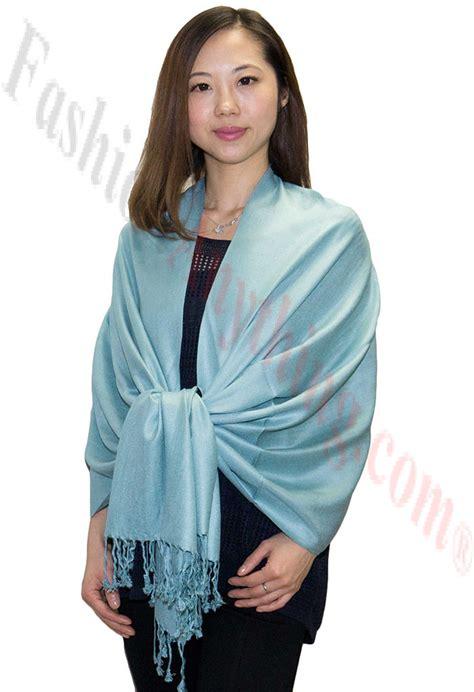 Silky Pashmina 1 silky soft solid pashmina scarf powder blue
