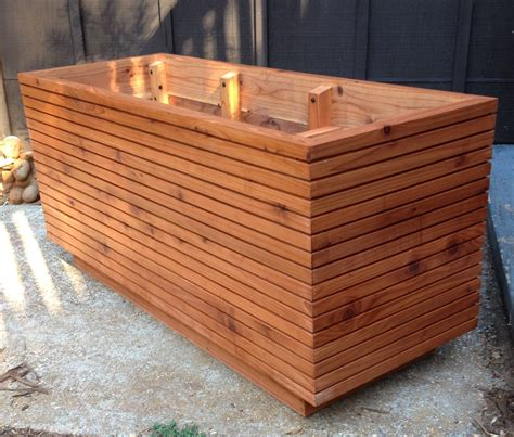 Tall Modern Redwood Planter Boxes Free Shipping 10 50 Planter Boxes