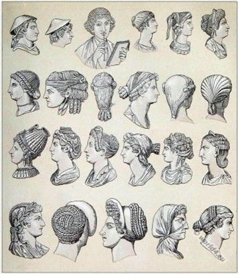 ancient greek hairstyles antique hairstyle pinterest coiffures romaines rome antique pinterest antigua