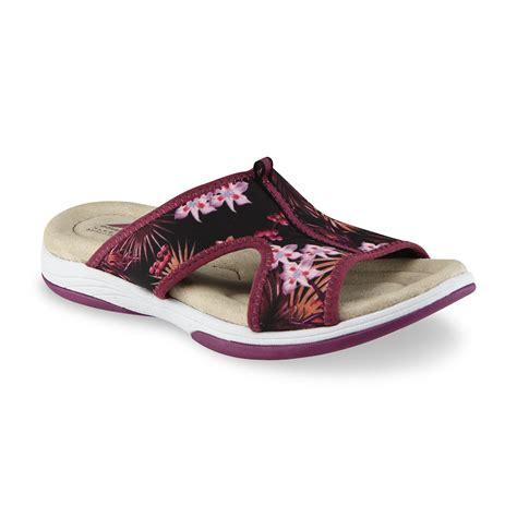 kmart sandal sale athletech s averley purple floral print sport slide