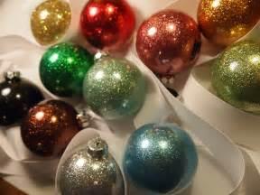 Handmade Ornaments - handmade glittered bauble ornament