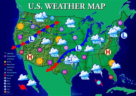 map of the weather in the united states united states weather map my