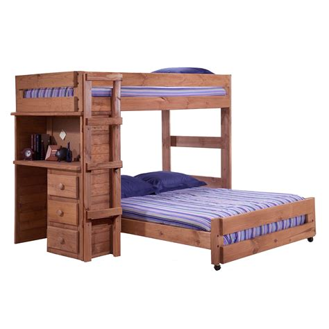 full bed bunk bed twin over full bunk bed with desk best alternative for kids room homesfeed