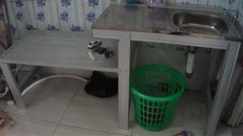 Rak Piring Dan Tempat Cuci Piring merakit tempat cuci piring dari baja ringan yang praktis