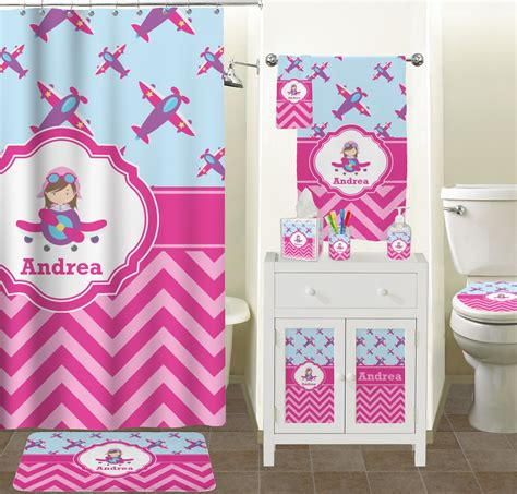 girls bathroom accessories airplane theme for girls bathroom accessories set