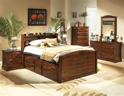distressed cherry bedroom set he827 bedroom
