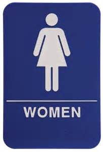 How To Update A Bathroom women s restroom sign blue business and store signs