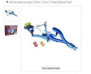jouets piste cars2 super cascade à 20.73 euros port inclu