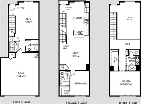 Stadium Lofts Anaheim Floor Plans by Amazing 2 Bedroom Loft Floor Plans Pictures Flooring