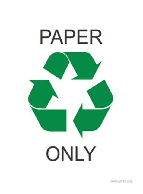 Recycle Paper - recycling signs