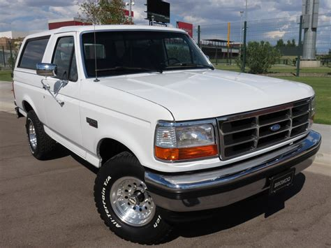 white bronco relive old times with this 1995 white ford bronco ford