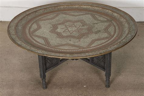 moroccan tray coffee table moroccan brass tray coffee table at 1stdibs