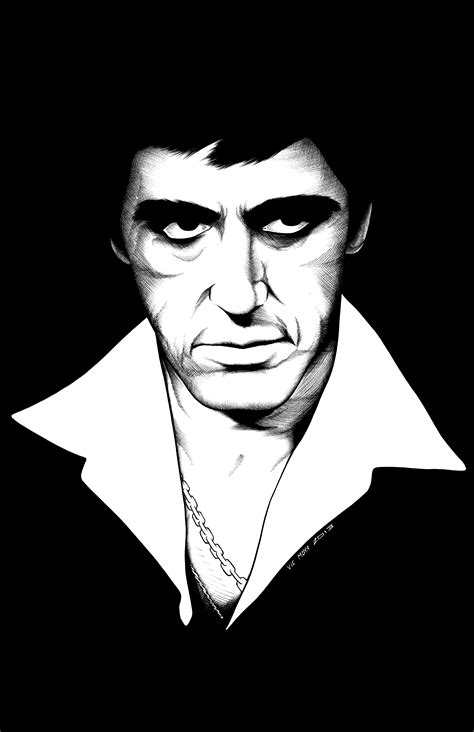 Pin D Iconic White by Pin Scarface Black And White Canvas Print Iconic On