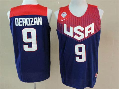 Jersey Setelan Basket Usa Hitam Derozan 9 ecseller official mens nba usa team 2014 fiba basketball world cup 9 derozan blue jersey p