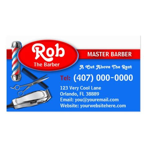 barber business card template barber business card barber pole and clippers business