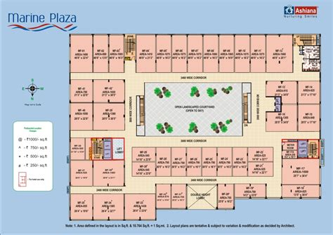 Ground Floor Plans by Floor Plan Ashiana Marine Plaza Marine Drive Sonari