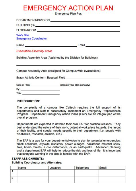 Emergency Plan Template For Sports emergency plan template templates resume