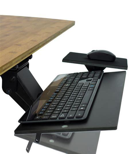under desk keyboard tray amazon amazon com kt2 ergonomic under desk adjustable height
