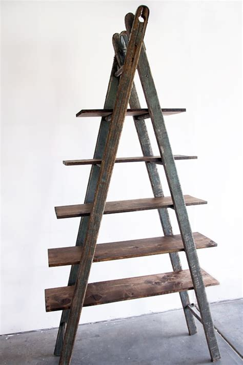 diy bookshelf ladder recycled ideas recyclart