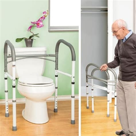 folding bathroom safety rail better senior living