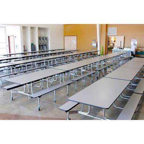 School Lunch Tables by Virco Mobile Bench Cafeteria Table 8 L X 29 Quot H 17