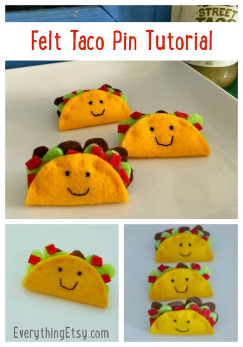 felt taco pins tutorial felt flair goodness