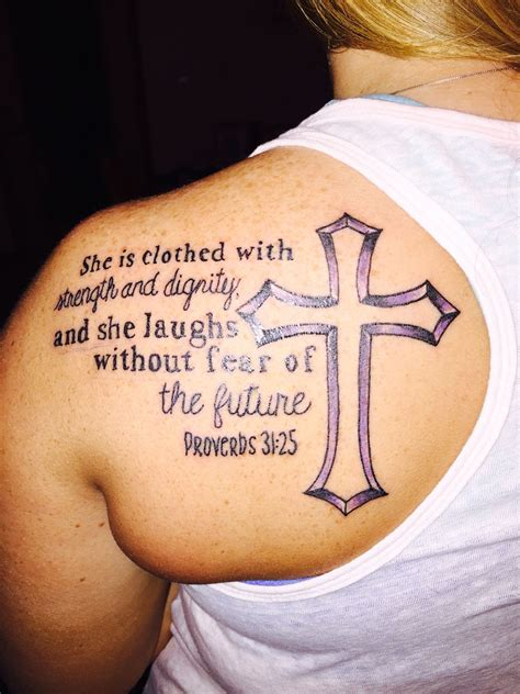 she is clothed in strength and dignity tattoo proverbs 35 21 she is clothed with strength and dignity